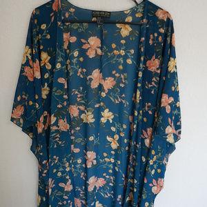 Forever21 Plus Floral Kimono